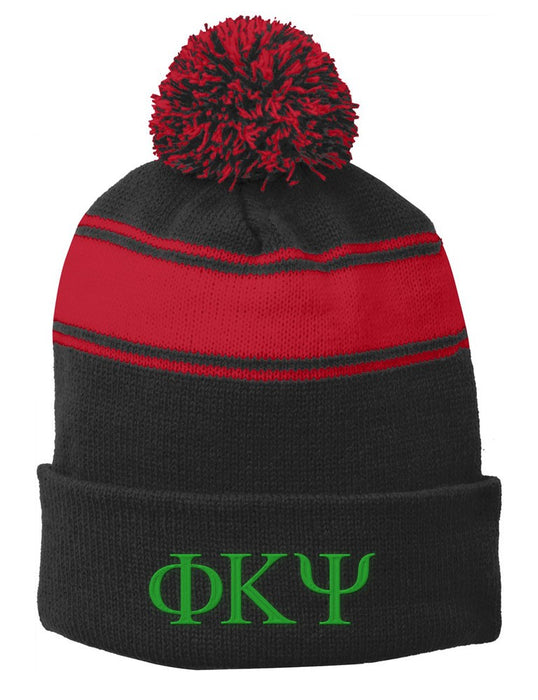 Phi Kappa Psi Embroidered Pom Pom Beanie