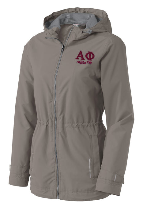 Alpha Phi Embroidered Ladies Northwest Slicker