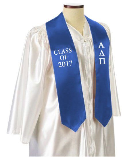 Alpha Delta Pi Classic Colors Embroidered Grad Stole
