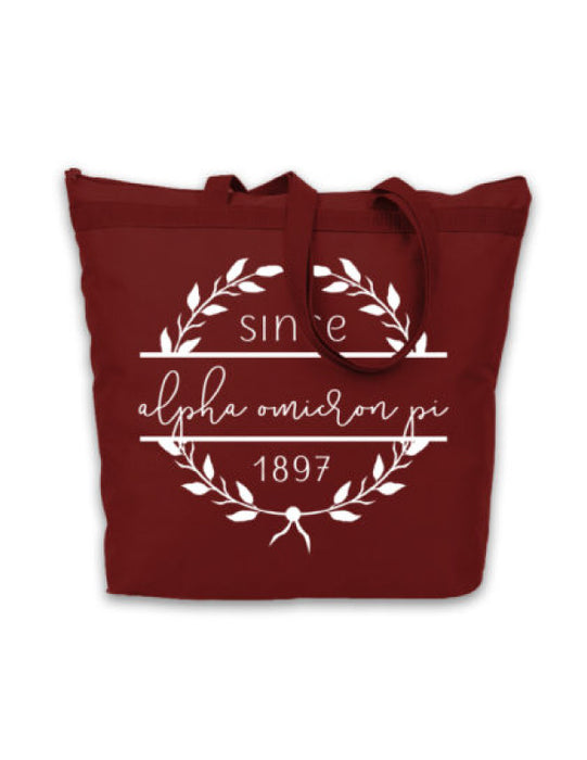 Alpha Omicron Pi Since Established Tote