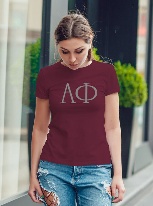 Alpha Phi University Letter T-Shirt