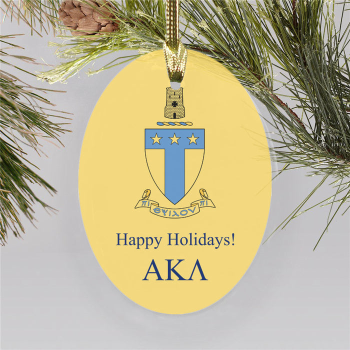 Alpha Tau Omega Color Crest Ornament