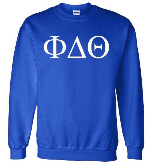 Phi Delta Theta World Famous Lettered Crewneck Sweatshirt