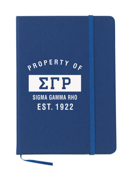Sigma Gamma Rho Property of Notebook
