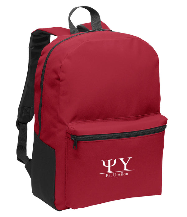 Psi Upsilon Collegiate Embroidered Backpack