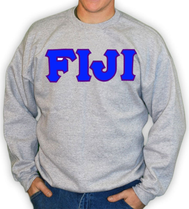 Phi Gamma Delta Classic Colors Sewn-On Letter Crewneck