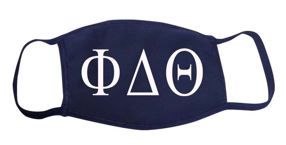 Phi Delta Theta Face Mask With Big Greek Letters