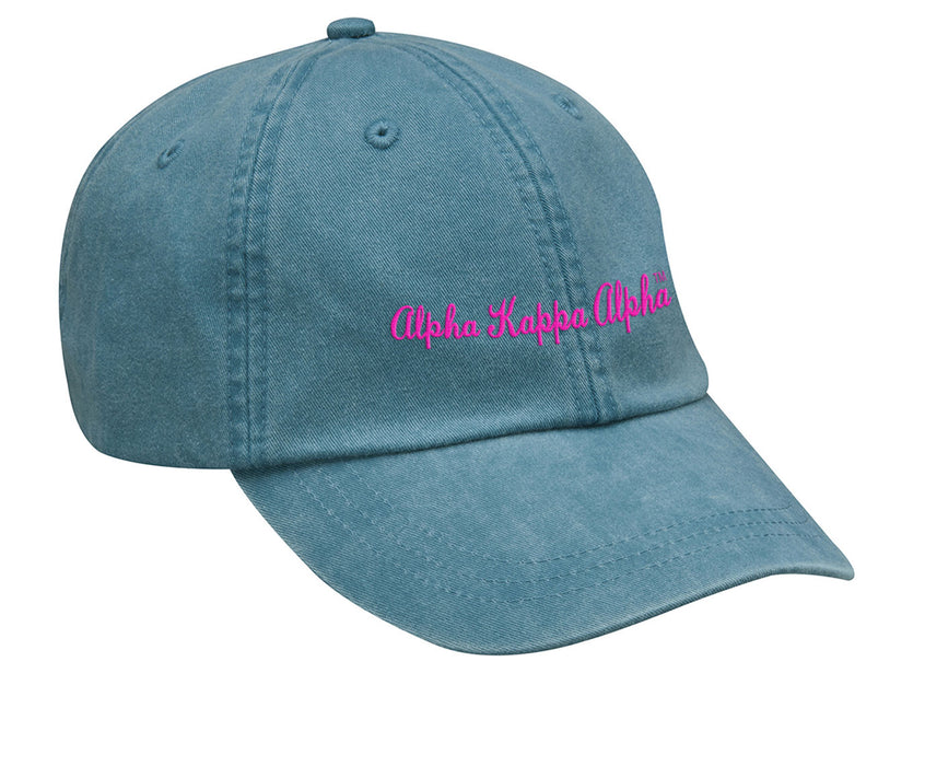 Alpha Kappa Alpha Cursive Embroidered Hat