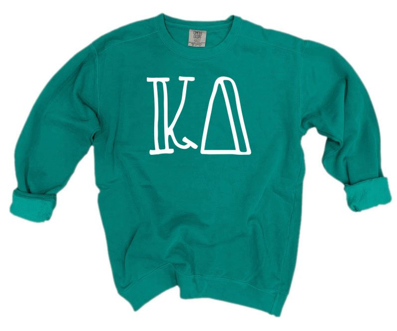 Kappa Delta Comfort Colors Greek Letter Sorority Crewneck Sweatshirt