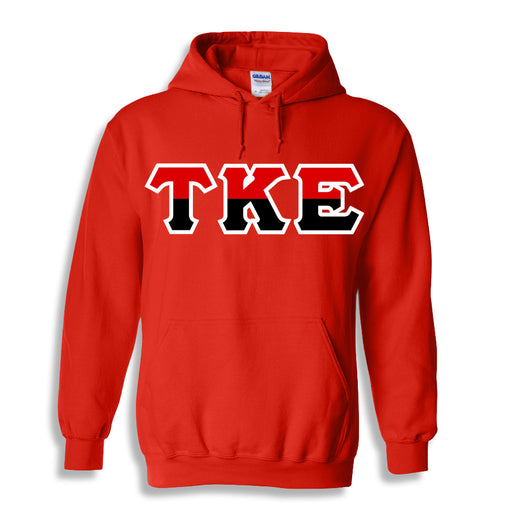 Tau Kappa Epsilon Two Toned Lettered Hooded Sweatshirt