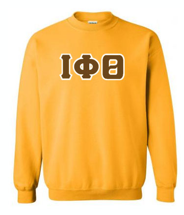 Iota Phi Theta Classic Colors Sewn-On Letter Crewneck