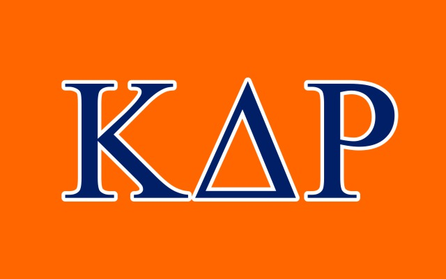 Kappa Delta Rho Fraternity Flag Sticker