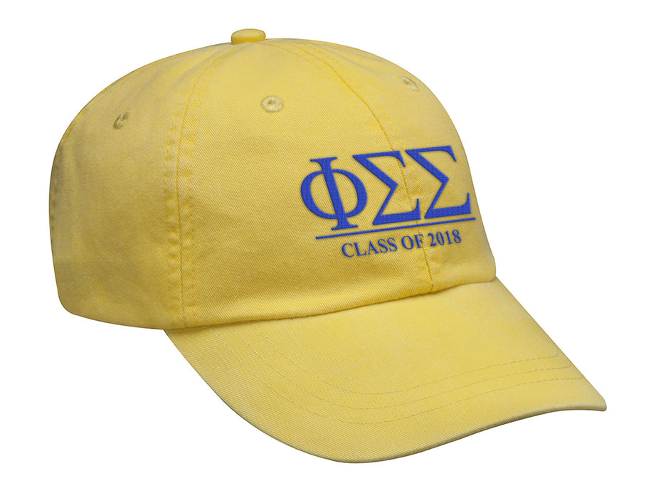 Phi Sigma Sigma Embroidered Hat with Custom Text