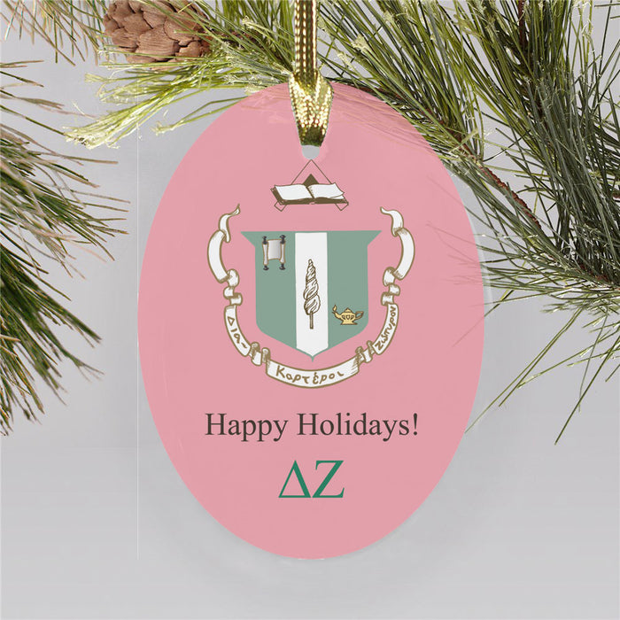 Delta Zeta Color Crest Ornament