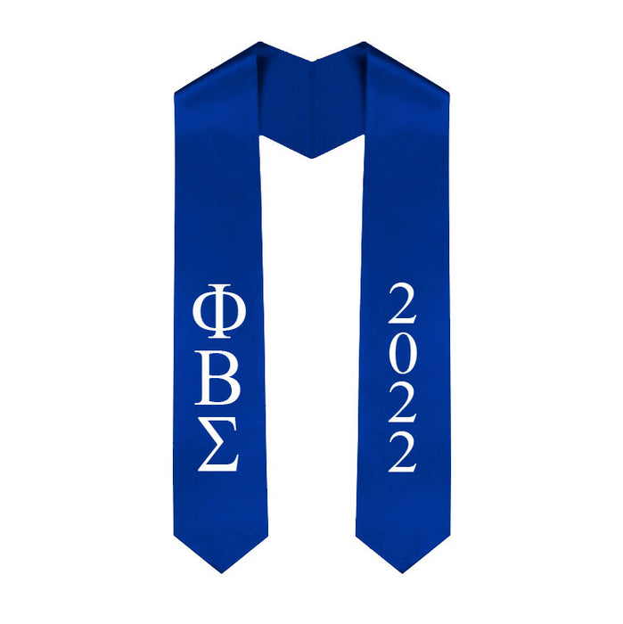Phi Beta Sigma Vertical Grad Stole with Letters & Year