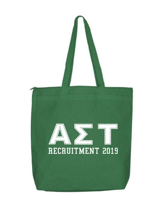 Alpha Sigma Tau Collegiate Letters Event Tote Bag