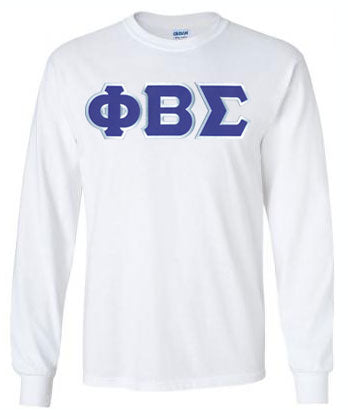 Phi Beta Sigma Long Sleeve Greek Lettered Tee