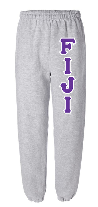 Phi Gamma Delta Sweatpants with Sewn-On Letters