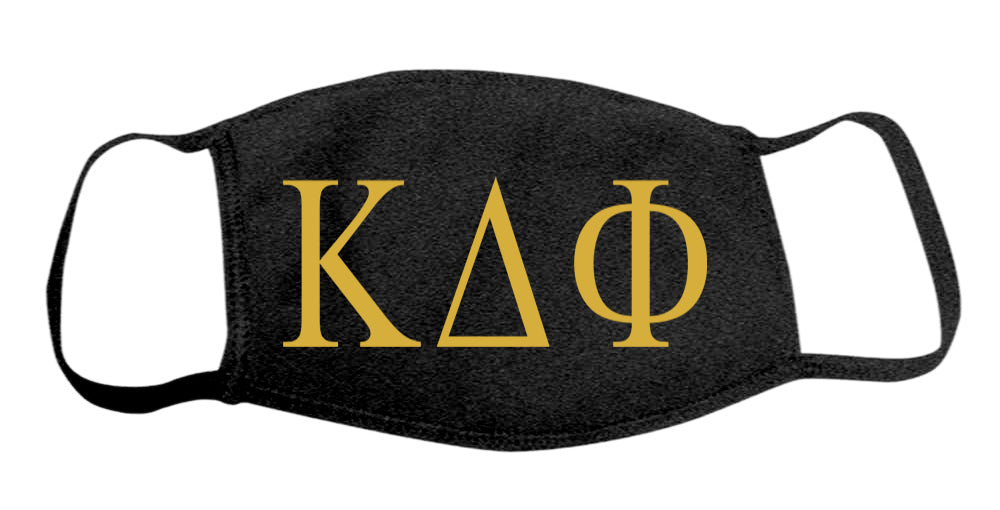 Kappa Delta Phi Face Mask With Big Greek Letters