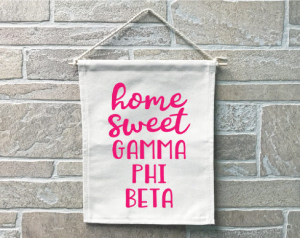 Gamma Phi Beta Home Sweet Home Banner