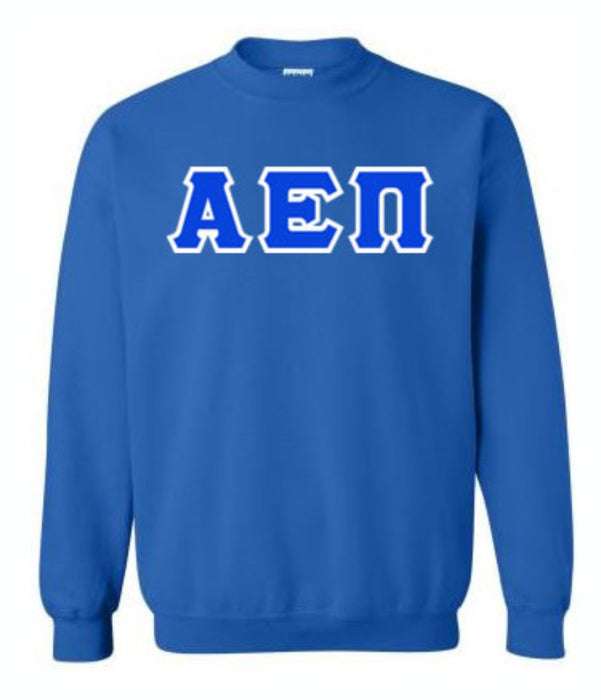 Alpha Epsilon Pi Classic Colors Sewn-On Letter Crewneck