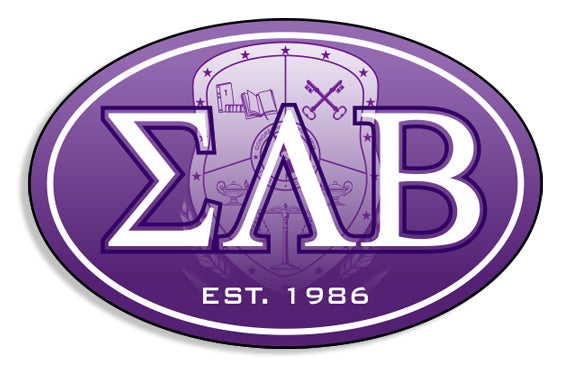 Sigma Lambda Beta Color Oval Decal Color Oval Decal