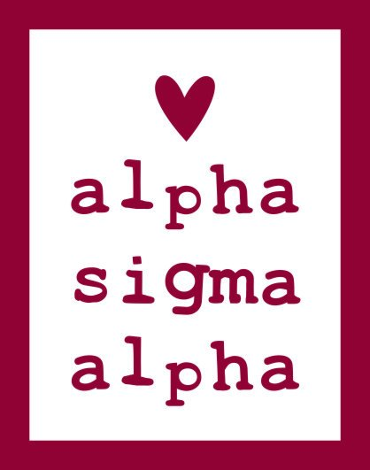 Alpha Sigma Alpha Heart Sticker
