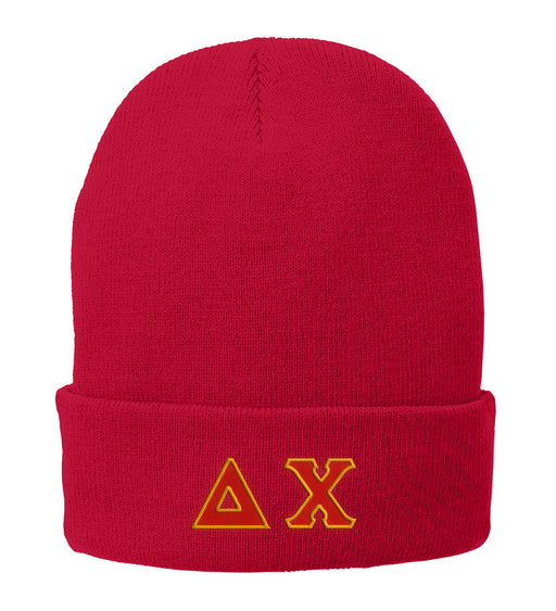Delta Chi Lettered Knit Cap