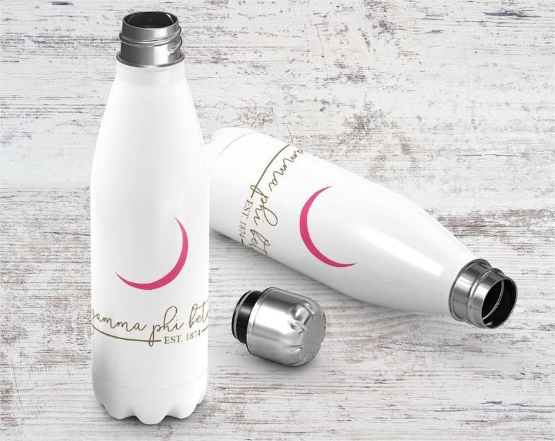 Gamma Phi Beta Established Stainless Steel Water Bottle