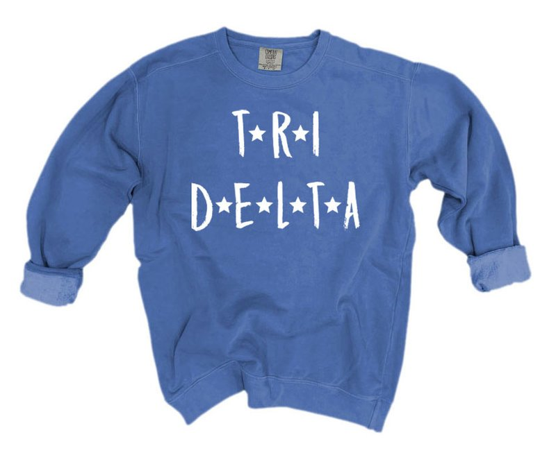 Delta Delta Delta Comfort Colors Starry Nickname Sorority Sweatshirt
