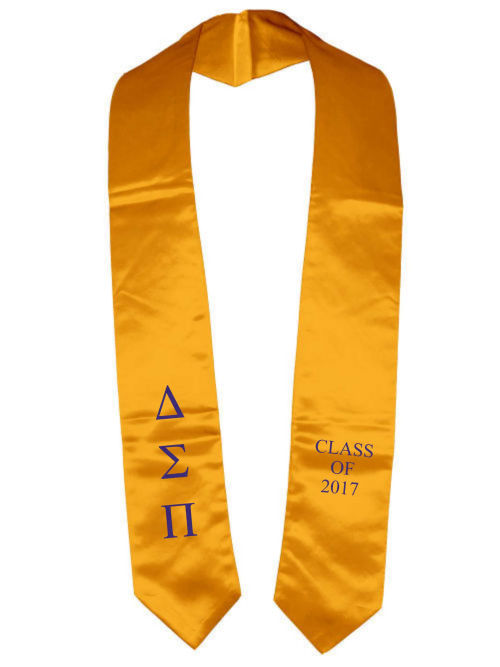 Delta Sigma Pi Classic Colors Embroidered Grad Stole