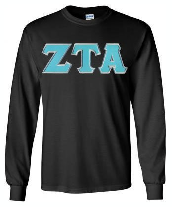 Zeta Tau Alpha Long Sleeve Greek Lettered Tee