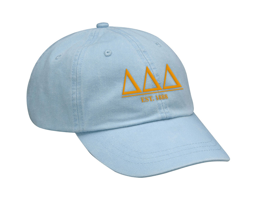 Delta Delta Delta Letters Year Embroidered Hat