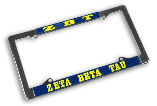 Zeta Beta Tau License Plate Frame