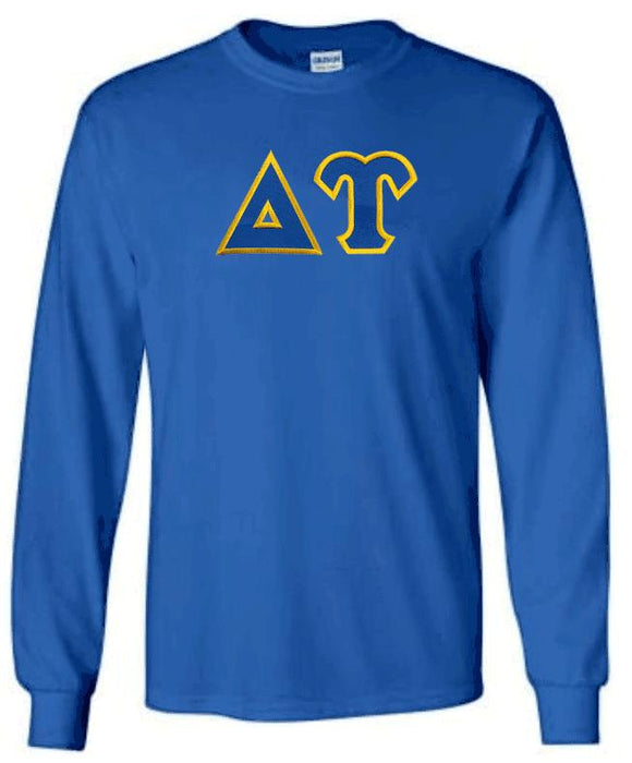 Delta Upsilon Long Sleeve Greek Lettered Tee