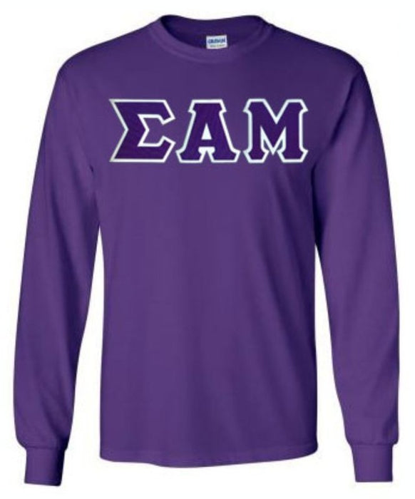 Sigma Alpha Mu Long Sleeve Greek Lettered Tee