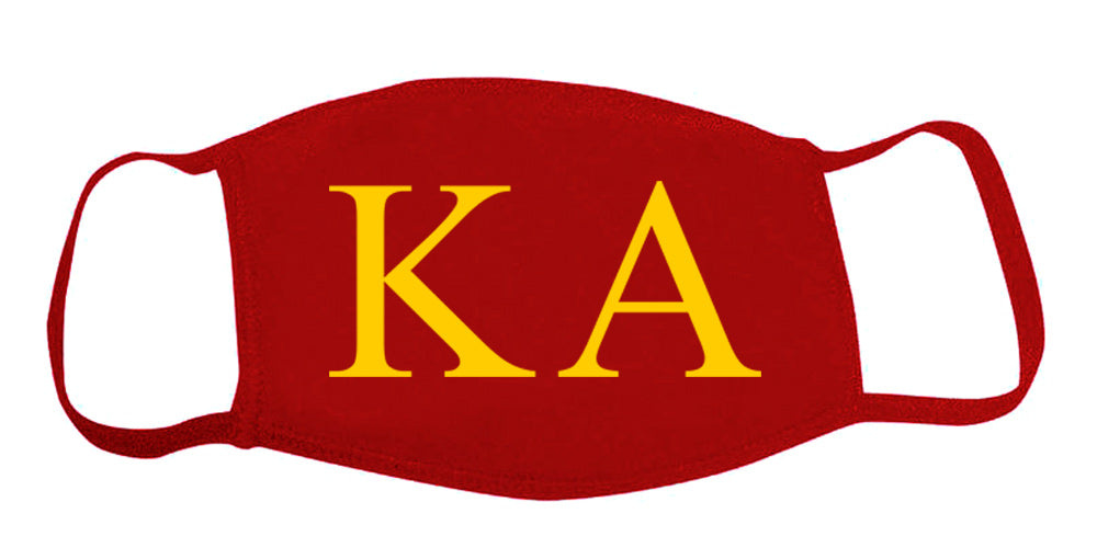 Kappa Alpha Face Mask With Big Greek Letters