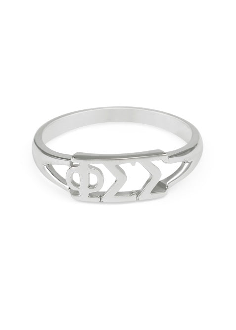 Phi Sigma Sigma Sterling Silver Ring