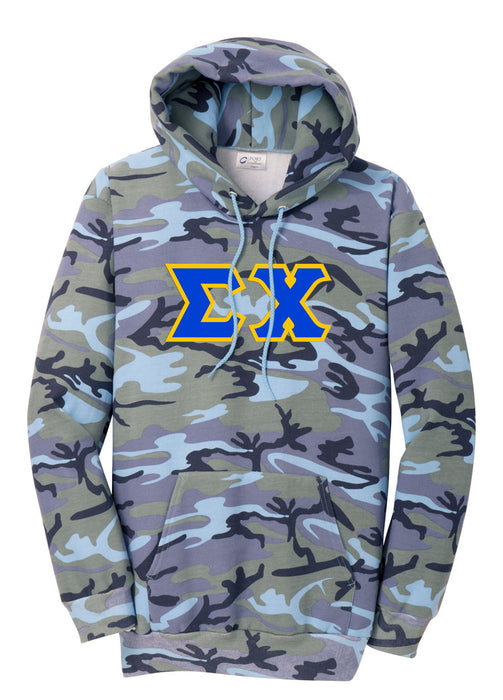 Sigma Chi Camo Hooded Pullover Sweatshirt