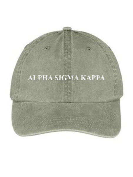 Alpha Sigma Kappa Embroidered Hat