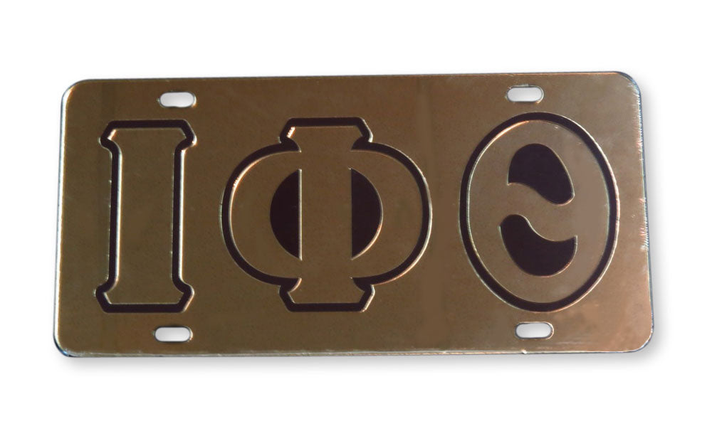 Iota Phi Theta Mirrored License Plate Cover