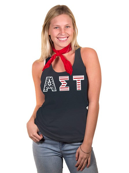 Alpha Sigma Tau All American Poly-Cotton Tank