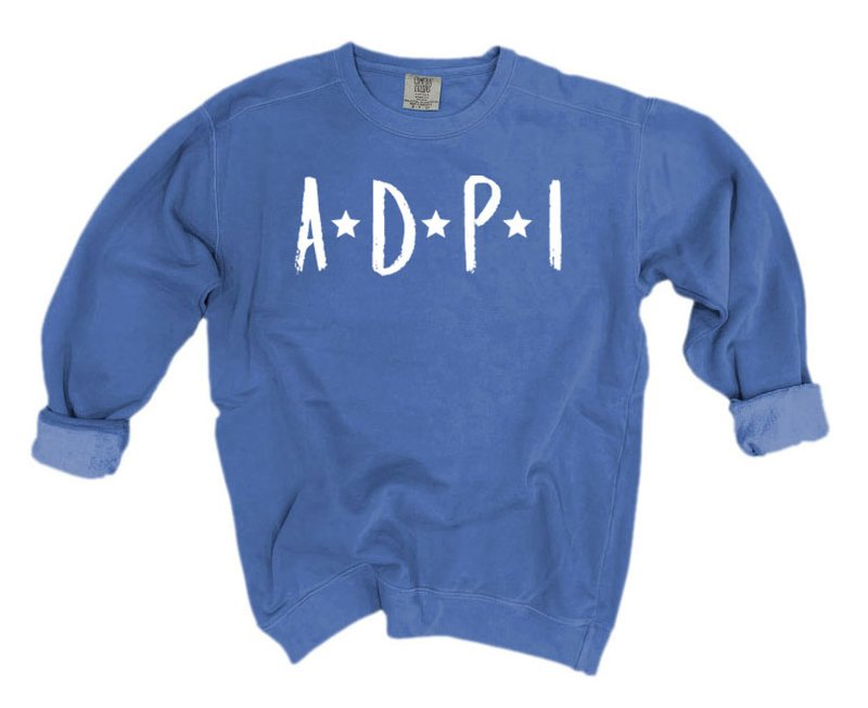 Alpha Delta Pi Comfort Colors Starry Nickname Sorority Sweatshirt