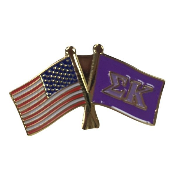 Sigma Kappa USA / Fraternity Flag Pin