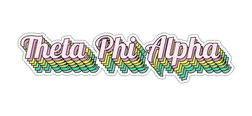 Theta Phi Alpha New Hip Stepped Sticker