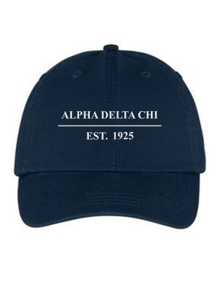 Alpha Delta Chi Line Year Embroidered Hat