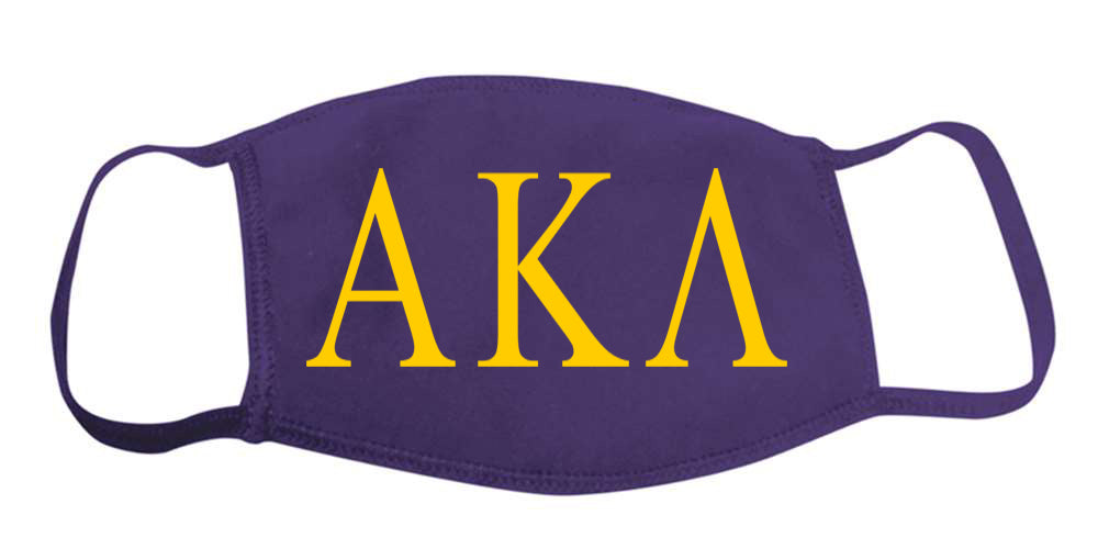 Alpha Kappa Lambda Face Mask With Big Greek Letters