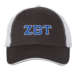 Zeta Beta Tau Greek Trucker Cap