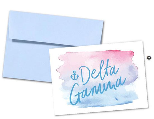 Delta Gamma Sorority Watercolor Notecards