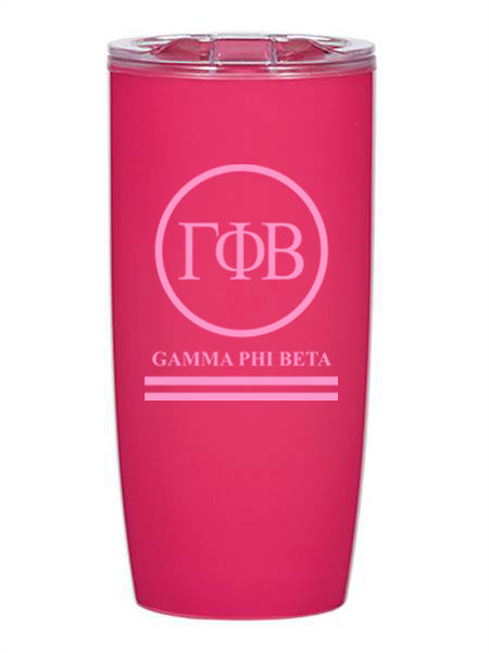 Gamma Phi Beta Circle Stripes 19 oz Everest Tumbler